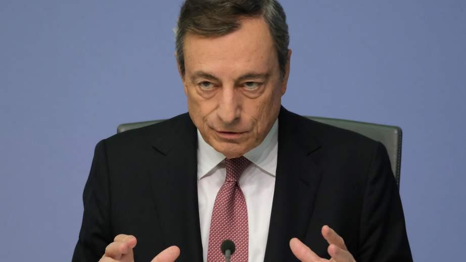 Primo piano di Mario Draghi