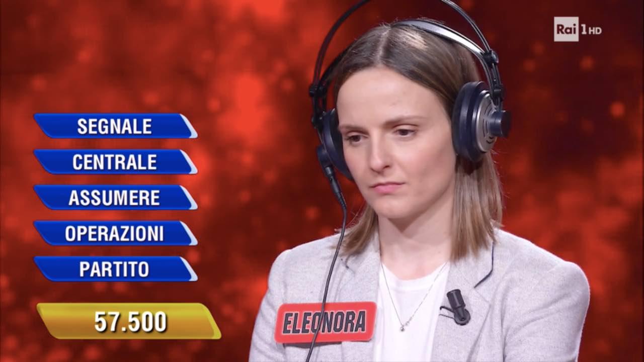 L'Eredità, vittoria sfiorata: l'errore di Eleonora le costa caro