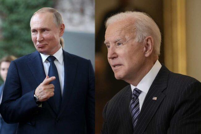Vladimir Putin e Joe Biden (Getty Images)