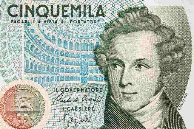 Banconota da 5.000 Lire (AdobeStock)