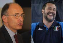 Enrico Letta e Matteo Salvini (Getty Images)