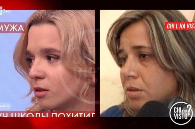 La presunta Denise Pipitone e Piera Maggio (Chi l'ha visto - RaiPlay)