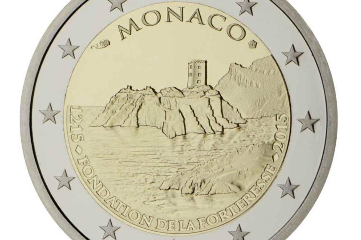 Moneta da 2 euro del Principato di Monaco (Google Images)