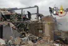 Esplosione laboratorio di Gubbio (Twitter)