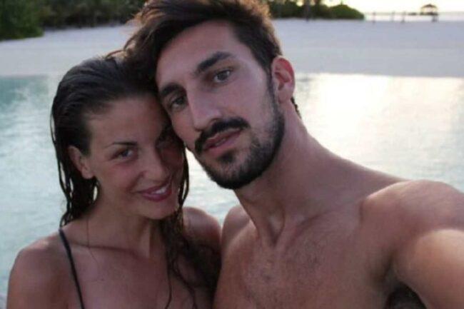 Francesca Fioretti e Davide Astori (Getty Images)