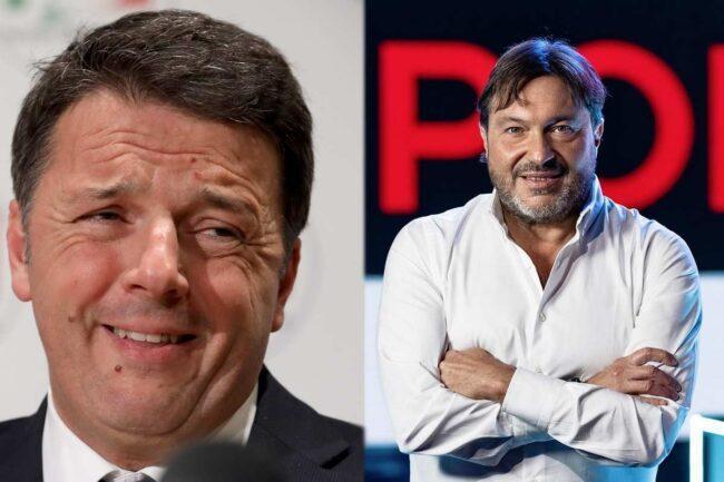 Matteo Renzi e Sigfrido Ranucci, conduttore di Report