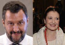 Matteo Salvini e Carla Fracci