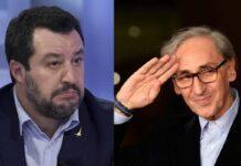 Matteo Salvini e Franco Battiato (Google Images)