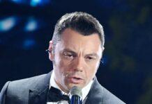 Tiziano Ferro sul palco dell'Ariston (GettyImages)