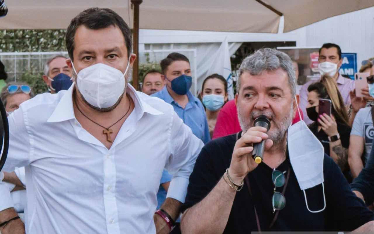 Matteo Salvini e Nino Spirlì (Getty Images)