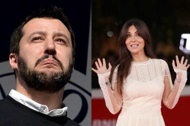 Matteo Salvini e Sabrina Ferilli