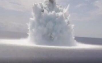 Usa, prossima possibile guerra? I test in mare generano una gigante esplosione