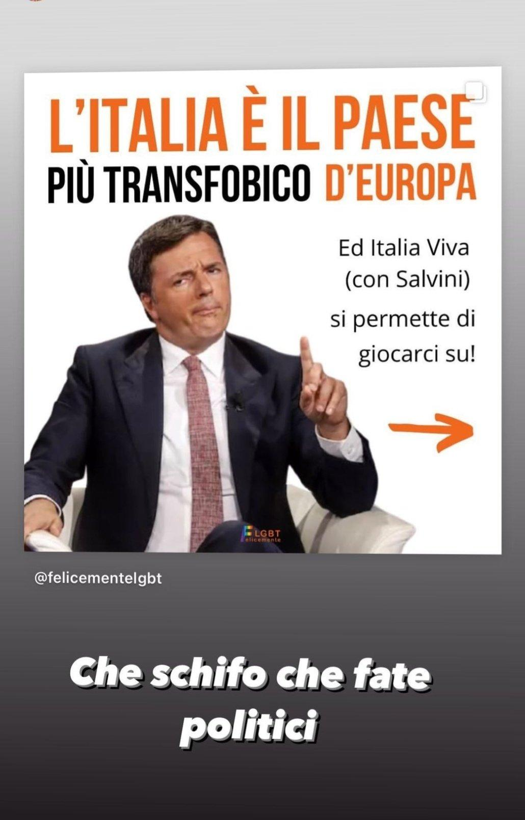 Ferragni contro Renzi