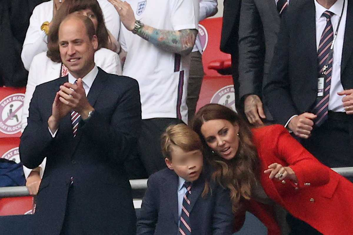 Euro 2020: William, George e Kate (GettyImages)