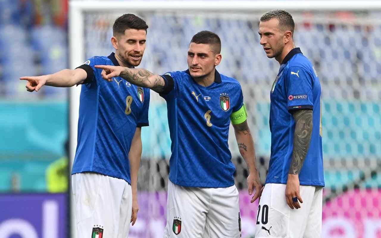 Jorginho, Verratti, Bernardeschi (Getty Images)