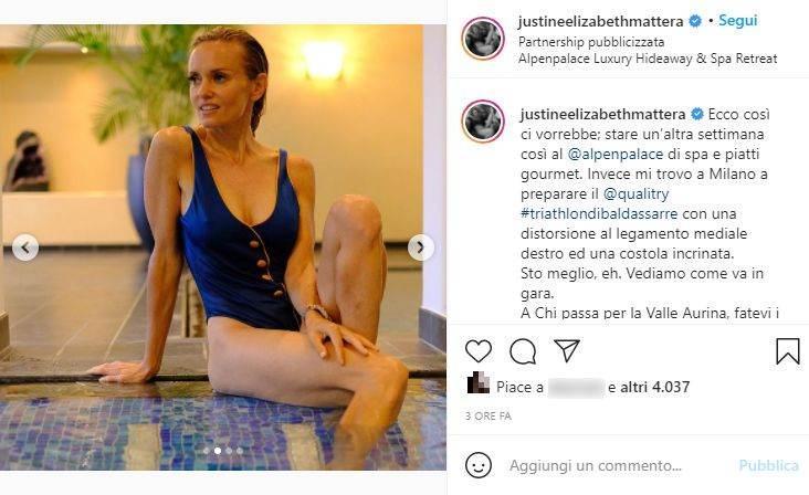 Justine Mattera, costume (Instagram)
