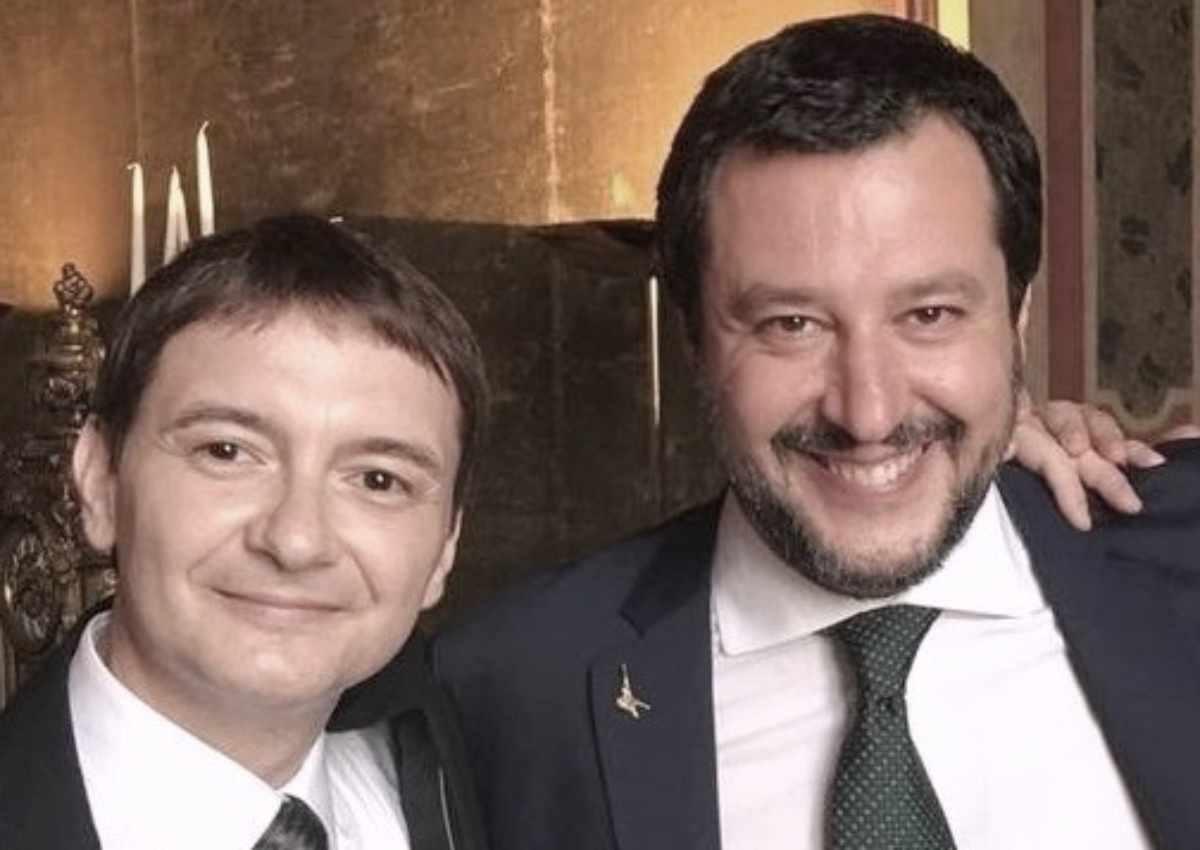 Luca Morisi e Matteo Salvini (Google Images)