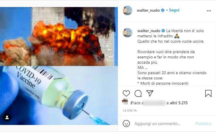 Post Walter Nudo (Instagram @walter_nudo)