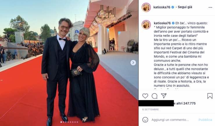 Katia Follesa, quel riconoscimento che le ha cambiato la vita
