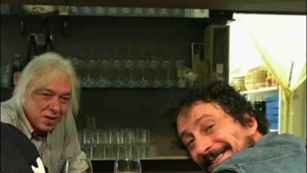Luca Bizzarri e l'amico Maurizio (facebook)