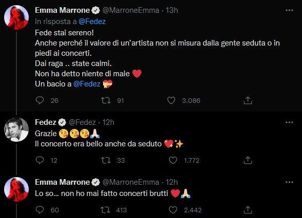 Fedez e Emma Marrone (Twitter)