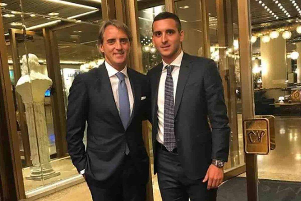 Andrea Mancini con papà Roberto (instagram)